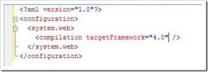 ASP.NET 4 Web.Config Minification